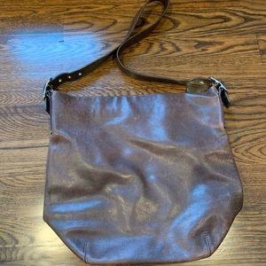 Coach genuine brown leather bucket bag